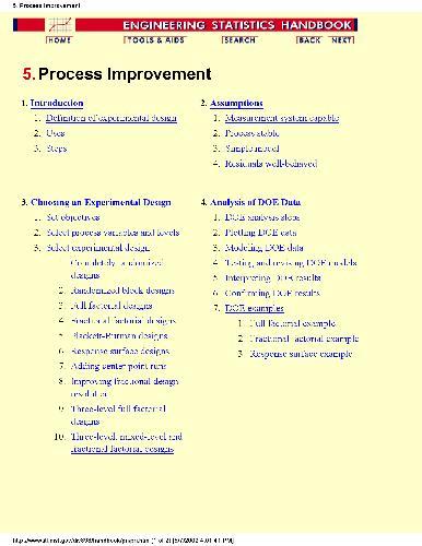 Business Process Improvement - Engineering Statistics Handbook
