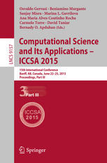 Computational Science and Its Applications -- ICCSA 2015: 15th International Conference, Banff, AB, Canada, June 22-25, 2015, Proceedings, Part III