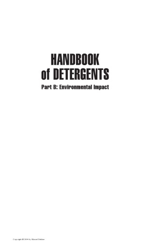 Handbook of Detergents, Part B