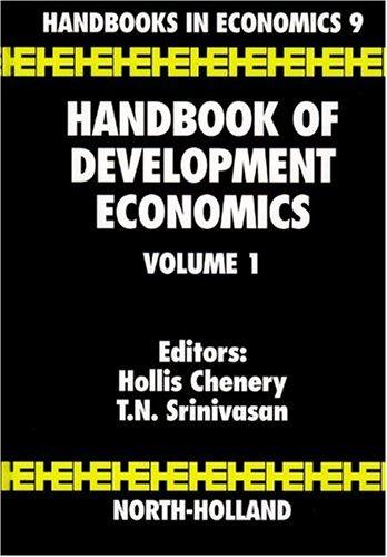 Handbook of Development Economics, Vol. 1