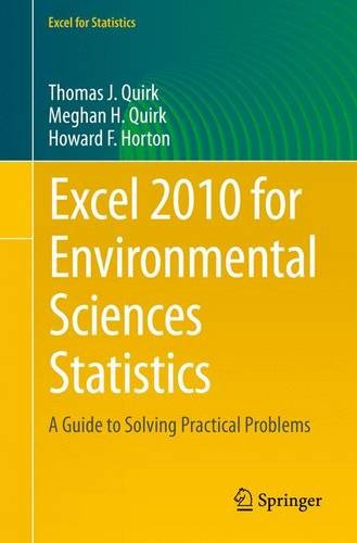 Excel 2010 for Environmental Sciences Statistics: A Guide to Solving Practical Problems