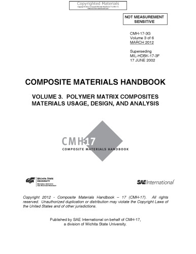 Composite materials handbook. v. 3, Polymer matrix composites : materials usage, design, and analysis