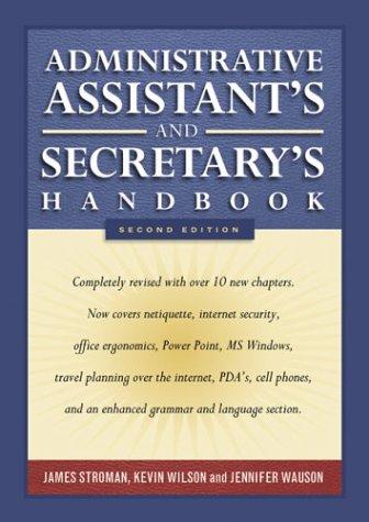 Administrative assistants & secretarys handbook