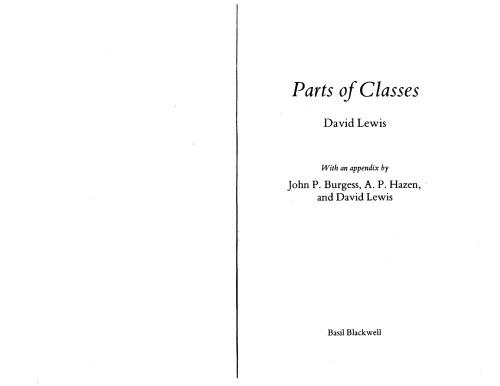 Parts of Classes