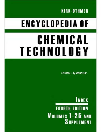 Kirk-Othmer Encyclopedia of Chemical Technology [Vol 27] INDEX]