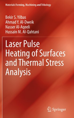 Laser Pulse Heating of Surfaces and Thermal Stress Analysis