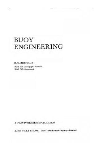 Buoy engineering