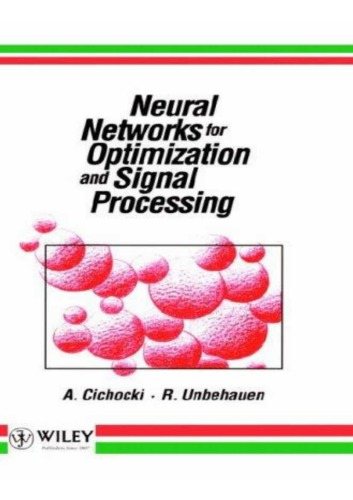 Neural Networks for Optimization and Signal Processing