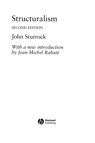 Structuralism: With an Introduction by Jean-Michel Rabaté