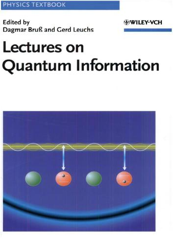 Lectures on Quantum Information (Physics Textbook)