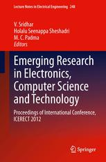 Emerging Research in Electronics, Computer Science and Technology: Proceedings of International Conference, ICERECT 2012