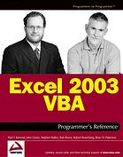 Excel 2003 VBA programmers reference