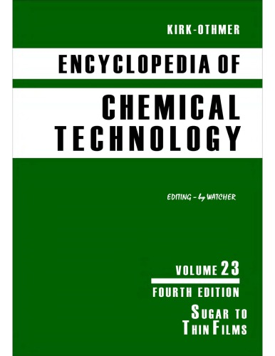 Kirk-Othmer Encyclopedia of Chemical Technology [Vol 23]