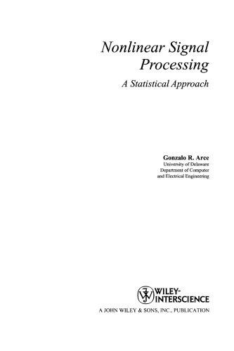 Nonlinear signal processing : a statistical approach