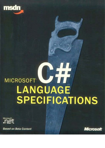 Microsoft C♯ language specifications