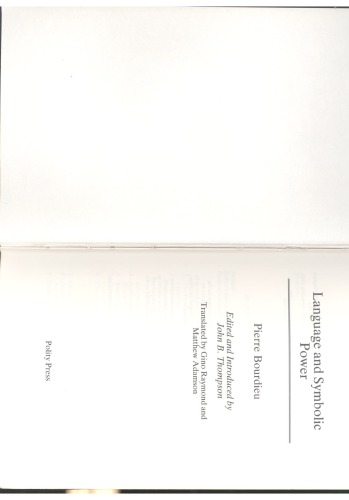 Language and Symbolic Power Essay Sample