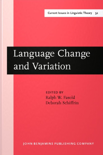 language variation and change in sultanate 6 days ago  exploring linguistic variation and change, with a particular focus on quantitative  models.