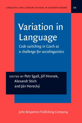 Variation in Language: Code switching in Czech as a challenge for sociolinguistics