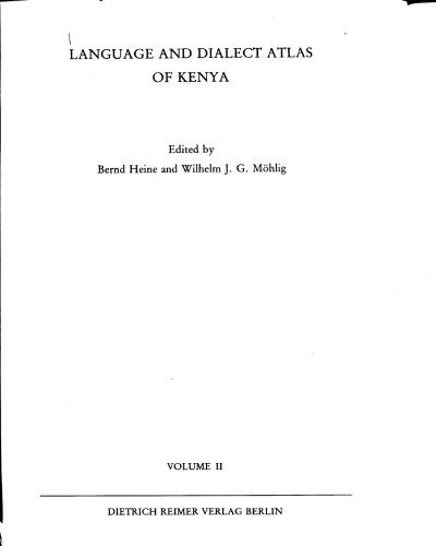 The Non-Bantu Languages of Kenya