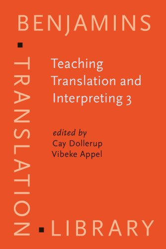 Teaching Translation and Interpreting 3: New Horizons. Papers from the Third Language International Conference, Elsinore, Denmark, 1995