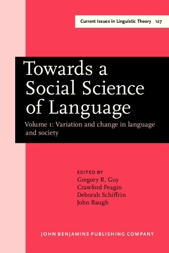 Towards a Social Science of Language: Papers in Honor of William Labov. Volume 1: Variation and Change in Language and Society