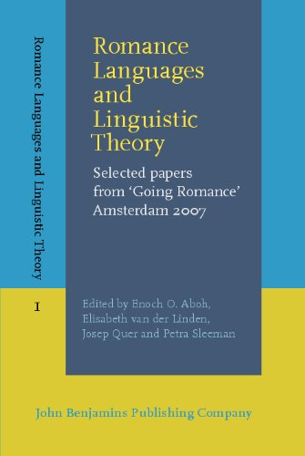 Romance Languages and Linguistic Theory: Selected papers from Going Romance Amsterdam 2007