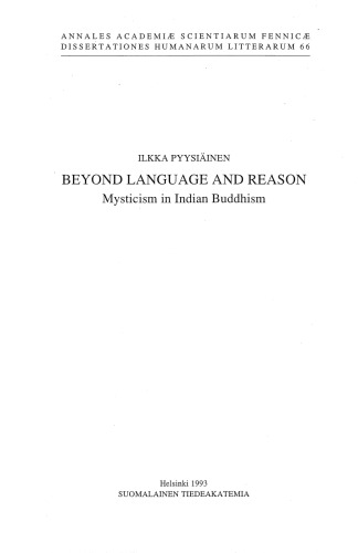 Beyond language and reason: Mysticism in Indian Buddhism