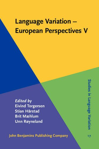 Language Variation - European Perspectives V: Selected papers from the Seventh International Conference on Language Variation in Europe (ICLaVE 7), Tr