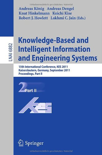 Knowlege-Based and Intelligent Information and Engineering Systems: 15th International Conference, KES 2011, Kaiserslautern, Germany, September 12-14,
