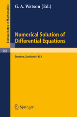 Conference on the Numerical Solution of Differential Equations: Dundee 1973