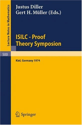 ISILC - Proof Theory Symposion: Dedicated to Kurt Schütte on the Occasion of His 65th Birthday. Proceedings of the International Summer Institute and