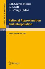 Rational Approximation and Interpolation: Proceedings of the United Kingdom - United States Conference held at Tampa, Florida, December 12–16, 1983