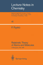 Relativistic Theory of Atoms and Molecules: A Bibliography 1916–1985