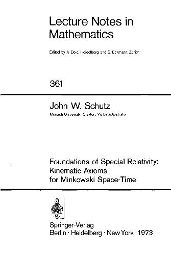 Foundations of special relativity: kinematic axioms for Minkowski space-time