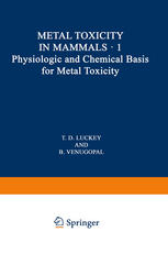 Physiologic and Chemical Basis for Metal Toxicity