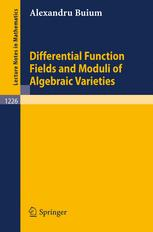 Differential Function Fields and Moduli of Algebraic Varieties