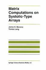 Matrix Computations on Systolic-Type Arrays