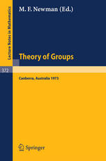 Proceedings of the Second International Conference on the Theory of Groups: Australian National University, August 13–24, 1973