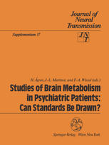 Studies of Brain Metabolism in Psychiatric Patients: Can Standards Be Drawn?