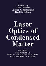 Laser Optics of Condensed Matter: Volume 2 The Physics of Optical Phenomena and Their Use as Probes of Matter