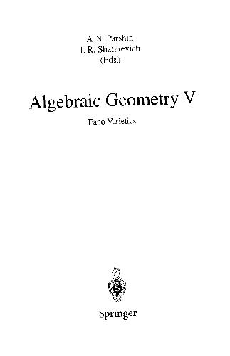 Algebraic Geometry 5
