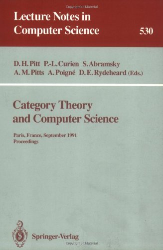 Category Theory and Computer Science: Paris, France, September 3–6, 1991 Proceedings