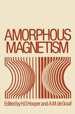 Amorphous Magnetism: Proceedings of the International Symposium on Amorphous Magnetism, August 17–18, 1972, Detroit, Michigan