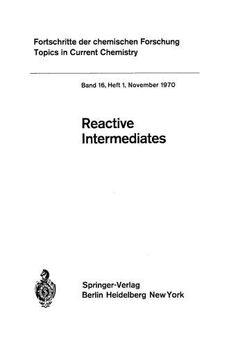 Reactives Intermediates