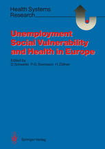 Unemployment, Social Vulnerability, and Health in Europe