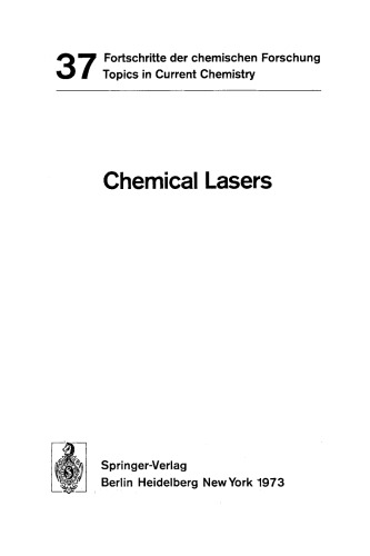 Chemical Lasers