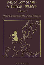 Major Companies of Europe 1993/94: Volume 2 Major Companies of the United Kingdom