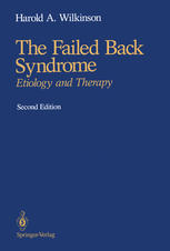 The Failed Back Syndrome: Etiology and Therapy