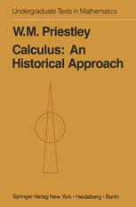 Calculus: An Historical Approach