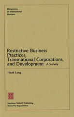 Restrictive Business Practices, Transnational Corporations, and Development: A Survey